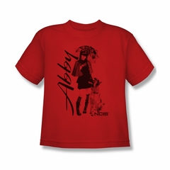 NCIS Shirt Kids Abby and K9 Red T-Shirt