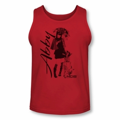 NCIS Shirt Tank Top Abby and K9 Red Tanktop