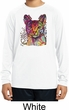 Neon Abyssinian Cat Kids Dry Wicking Long Sleeve Shirt
