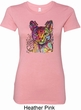 Neon Abyssinian Cat Ladies Longer Length Shirt