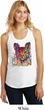 Neon Abyssinian Cat Ladies Racerback Tank Top