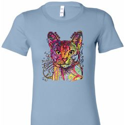 Neon Abyssinian Cat Ladies Shirts