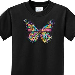 Neon Butterfly Kids Shirts