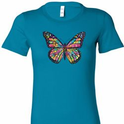 Neon Butterfly Ladies Shirts