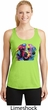 Neon Golden Retriever Ladies Moisture Wicking Racerback Tank Top