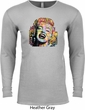 Neon Marilyn Monroe Mens Long Sleeve Thermal Shirt