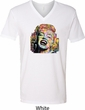 Neon Marilyn Monroe Mens V-Neck Shirt