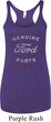 New Genuine Ford Parts Ladies Tri Blend Racerback Tank Top
