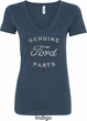 New Genuine Ford Parts Ladies V-Neck Shirt