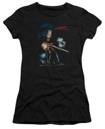 Nightmare On Elm Street Juniors Shirt Poster Black T-Shirt