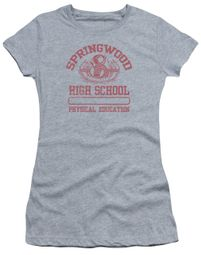 Nightmare On Elm Street Juniors Shirt Springwood High Heather Grey T-Shirt