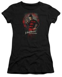 Nightmare On Elm Street Juniors Shirt Springwood Slasher Black T-Shirt