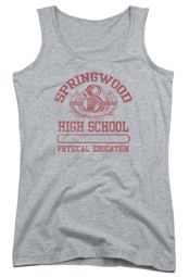 Nightmare On Elm Street Juniors Tank Top Springwood High Heather Grey Tanktop