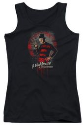Nightmare On Elm Street Juniors Tank Top Springwood Slasher Black Tanktop