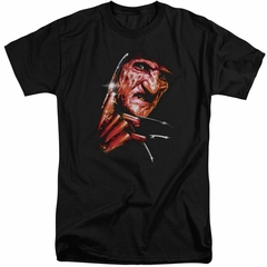 Nightmare On Elm Street Shirt Freddy's Face Tall Black T-Shirt