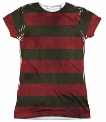 Nightmare On Elm Street Shirt Freddy Sweater Sublimation Juniors Shirt