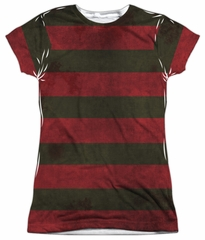 Nightmare On Elm Street Shirt Freddy Sweater Sublimation Juniors Shirt Front/Back Print