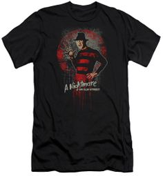 Nightmare On Elm Street Slim Fit Shirt Springwood Slasher Black T-Shirt