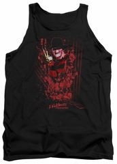 Nightmare On Elm Street Tank Top One Two Freddys Coming For You Black Tanktop