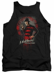 Nightmare On Elm Street Tank Top Springwood Slasher Black Tanktop