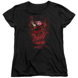 Nightmare On Elm Street Womens Shirt One Two Freddys Coming For You Black T-Shirt