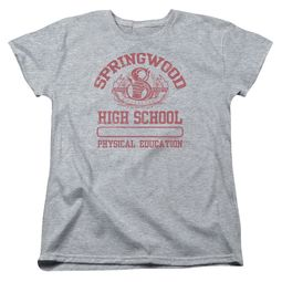 Nightmare On Elm Street Womens Shirt Springwood High Heather Grey T-Shirt