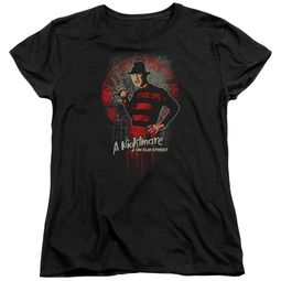 Nightmare On Elm Street Womens Shirt Springwood Slasher Black T-Shirt