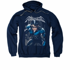 Nightwing DC Comics Hoodie Sweatshirt A Legacy Navy Blue Adult Hoody Sweat Shirt