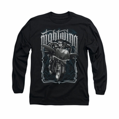 Nightwing DC Comics Shirt Biker Long Sleeve Black Tee T-Shirt