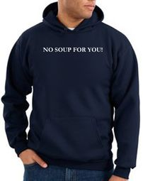 No Soup For You Hoodie Navy