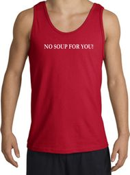 No Soup For You T-shirt - Adult Tanktop Tank Top Red