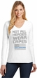 Not All Heroes Wear Capes Police Officer Ladies Long Sleeve V-Neck T-Shirt
