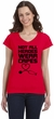 Not All Heroes Wear Capes Stethoscope Ladies Fit V-Neck T-Shirt