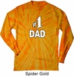 Number 1 Dad Long Sleeve Tie Dye Shirt