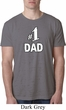 Number 1 Dad Mens Burnout Shirt