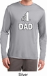 Number 1 Dad Mens Dry Wicking Long Sleeve Shirt