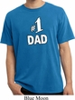 Number 1 Dad Pigment Dyed Shirt