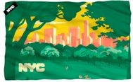 "NYC Central Park Skyline Microfiber Fleece Blanket - 36"" X 58"""