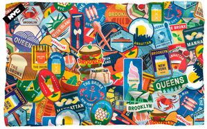"NYC ""Food Culture"" Microfiber Fleece Blanket - 36"" X 58"""