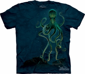 Octopus Shirt Tie Dye Aquatic Fish Adult T-shirt Tee