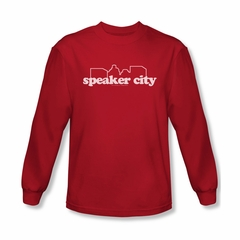 Old School Shirt Speaker City Logo Long Sleeve  Tee T-Shirt