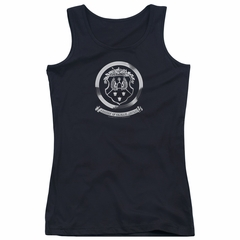 Oldsmobile Juniors Tank Top 1930's Crest Emblem Black Tanktop