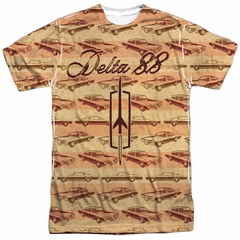 Oldsmobile Shirt Delta 88 Sublimation T-Shirt Front/Back Print