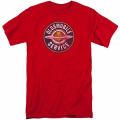 Oldsmobile Shirt Vintage Service Red Tall T-Shirt