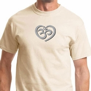 OM Heart Mens Yoga Shirts