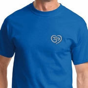 OM Heart Pocket Print Mens Yoga Shirts