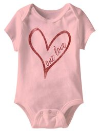 One Love Funny Baby Romper Pink Infant Babies Creeper