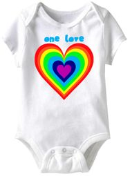 One Love Funny Baby Romper White Infant Babies Creeper