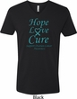 Ovarian Cancer Awareness Hope Love Cure V-neck