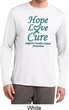 Ovarian Cancer Hope Love Cure Dry Wicking Long Sleeve